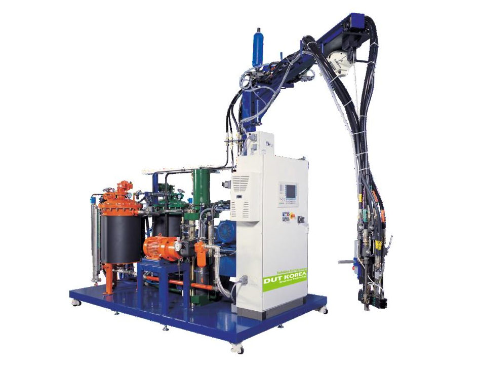 Foam metering machine